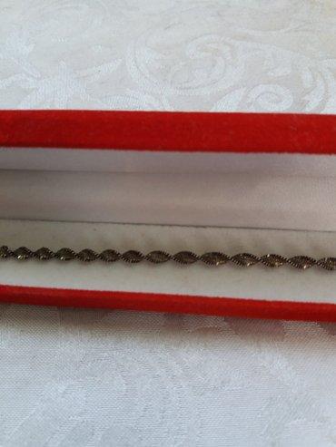 браслет серебряный 925 проба. длинна 18 см. производство Италия. в Лебединовка