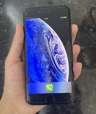 аккумуляторы для смартфонов в бишкеке in Кыргызстан | XIAOMI: IPhone 7 | 128 ГБ | Черный Б/У | Гарантия, Отпечаток пальца, С документами