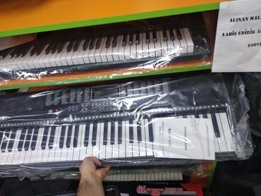 Sintezator pianino klaviatura kimi 5 Oktava həcmində