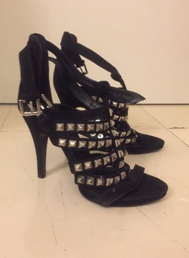 Black high heels studs sandals size 39 New ! Never worn . Bought 80£ σε Rest of Attica
