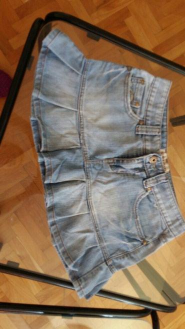Teksas suknjica - Srbija: 400rsd teksas suknjica sa karnerom m velicina u odlicnom stanju
