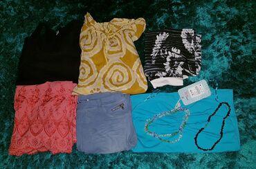 Dečija odeća i obuća - Loznica: Paket zenskih stvari S\M velicina sve sa slika ide,i ogrlice, sve je