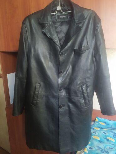 Кожаный мужской сюртук, размер 50,в идеальном состоянии нового,одет