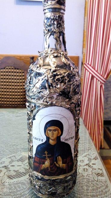 Flasa Sv Petka ukrasna 1l..ima i ostlih svetaca .. - Kraljevo