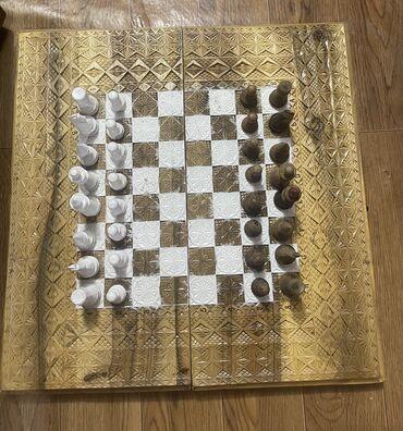 Спорт и хобби - Кок-Джар: Продаю шахматы ручной работы, нарды