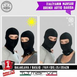 """Motosiklet hissələri Azərbaycanda: Balaklava (Başlıq). Kaskanın altından taxılır.İtaliyanın """"T.J. MARVIN"""""""