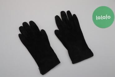 Аксессуары - Украина: Жіночі чорні замшеві рукавички     Довжина: 24 см Ширина: 10 см  Стан