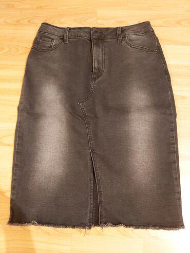 Teksas suknja, velicina 27. Odgovara za broj vece, ima elastina