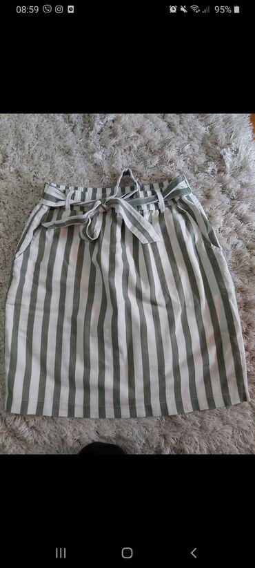 Veoma prijatna Orsay suknja. Kao nova. Lan-pamuk. Jednom obučena