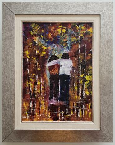 Ulje na platnu Zagrljaj, prelepa slika! Dimenzije slike sa ramom 48 x