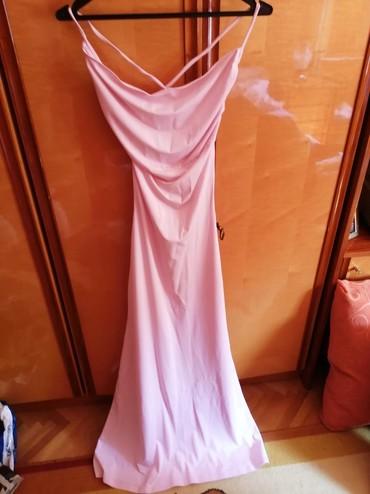 Haljina-za-trudnicesirina-ledja-cmduzina-haljinr - Srbija: Haljina bebi roze, nije kupljena vec sivena. ima gola ledja,napred deo