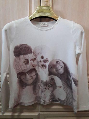 Теплая футболка на девочку9-10лет,рост в Бишкек
