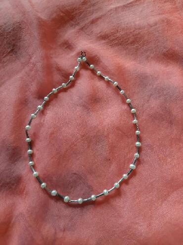 Чисто жемчуг - Кыргызстан: Продам бусы, серебро, натуральный жемчуг,цена 2500 сом