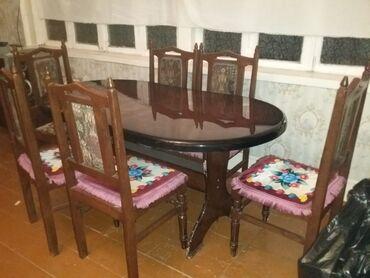 Kafe ucun stol stul satilir - Азербайджан: 6neferlik stol stul 250manata tecili satilir