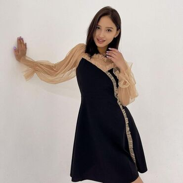 платье миди в Кыргызстан: Нежное платье в наличии   Размер:42-44