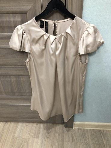 нарядные блузки в Кыргызстан: Нарядная шелковая блузка, цвета шампанского, фирма Mango, размер Xl