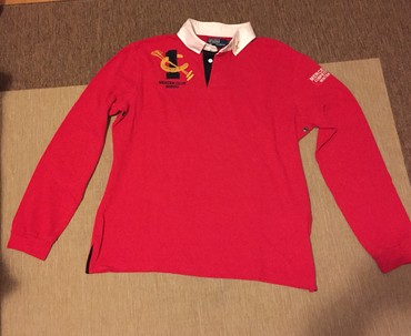 Κόκκινο αγορίστικο μακρυμάνικο αυθεντικό Ralp Lauren polo shirt . No