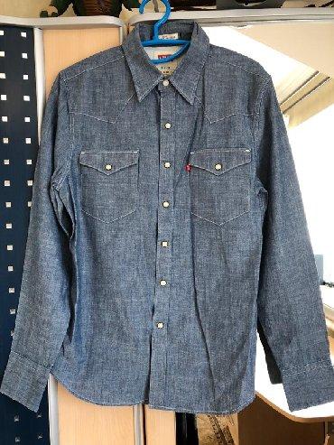 Рубажка тонкая джинсовая новая мужская !levis оригинал! размер S slim