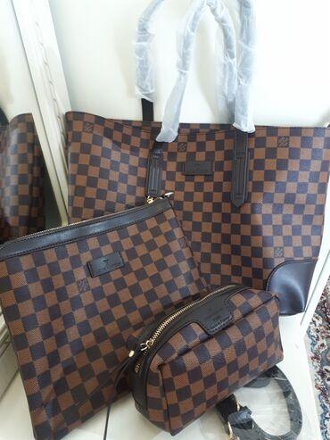 рюкзак в Кыргызстан: Сумка новая, 3в1 LV, Lux качество Рюкзак черный