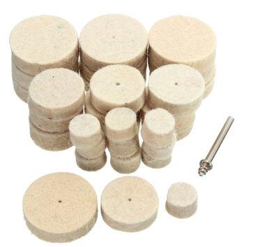 Komplet za poliranje sa tri vrste filc diskova: 5 x 13 mm, 5 x 25 mm