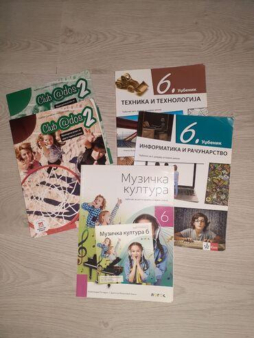 Knjige, časopisi, CD i DVD | Ruma: Knjige sa slike za 6.razred sve za 500din.cd za muzicko nov
