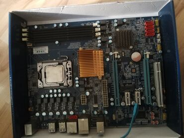Прдаюо материнскую плату с процессоромX11 1333 socketXeon 5650 6