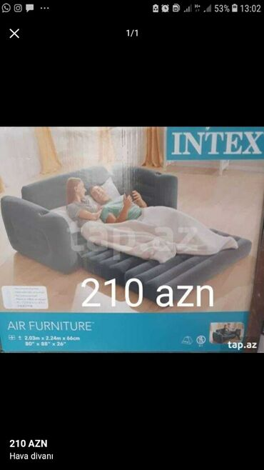 awa 210 - Azərbaycan: Şişme yatak cemi 210 azn
