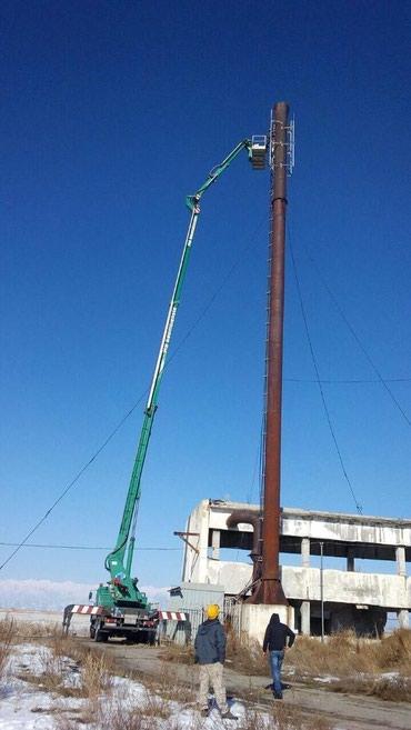 услуги зил в Кыргызстан: Услуги автовышек от 18м. До 46 метров. Предоставляем документы