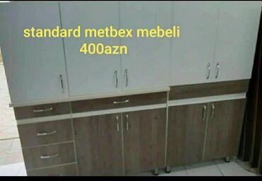 Standart metbex mebeli 2metrlik asma tavanla moyka alti ile birlikde