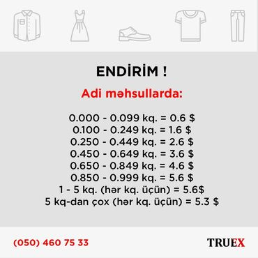 Xidmətlər - Azərbaycan: @truex.az  Salam, True Express olaraq Türkiyə mağazalarından aldığınız