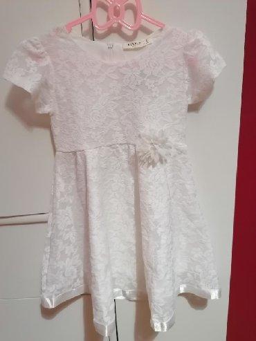 Bela haljina sa cipkom - Srbija: Snezno bela nova sa etiketom Breeze haljinica vel 104, nezna bela