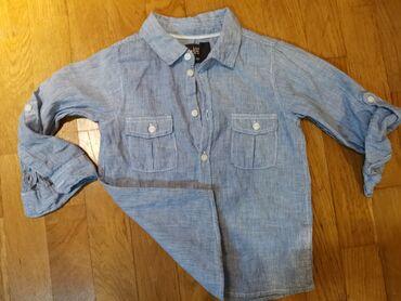 Prelepa, 2 puta obučena H&M košulja. Kombinacija lana i pamuka.Vel