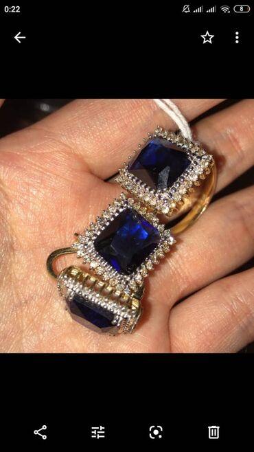 бетонные кольца для туалета цена в Кыргызстан: Новый комплект из золота, камни бриллианты, посередине сапфир. Размер