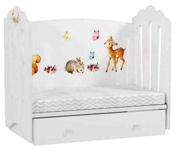 Детская кроватка от 0 до 5 лет, с матрасом, новая