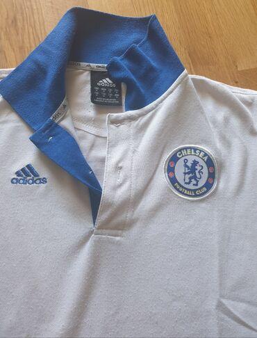 Fudbalski dresovi - Srbija: ADIDAS CHELSEA football club dres, polo majica bela, bele boje, sa