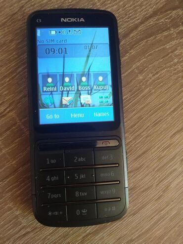 Elektronika - Kikinda: Nokija-c3 - 01Telefon radi, sacuvan, baterija dobraAl tac zeza nekad