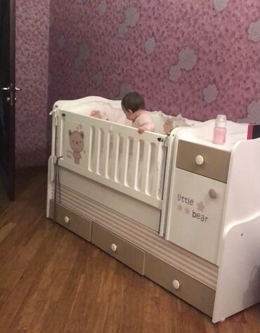 Детская кровать в хорошем состоянии плюс бортики в комплекте