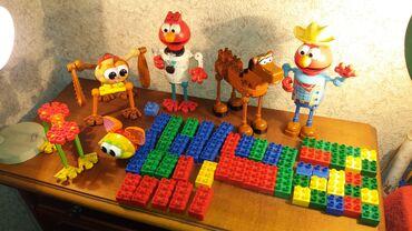 Lego kocke - Srbija: Nisu Lego DUPLO kocke lot figure + 55kom kockiFigure su napravljene od