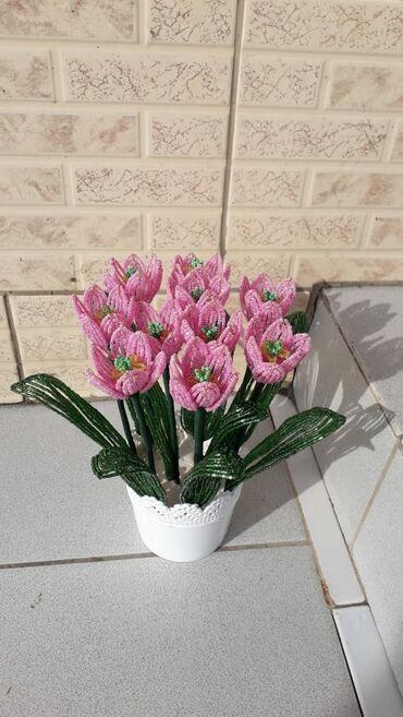 Цветы из бисера на заказ