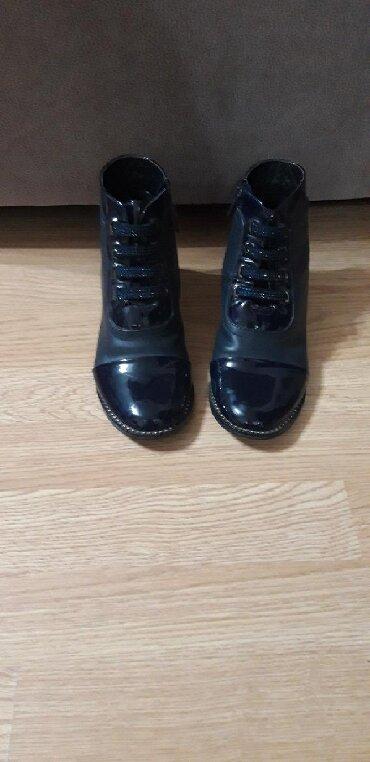 sapogi-detskie-bu в Кыргызстан: Демисезонные ботинки Buddi Dog, чистая кожа, синего цвета. Размер 35
