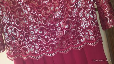 бордовое платье в пол в Кыргызстан: Вечернее платье, бордовое. В идеальном состоянии. Одевали один раз на