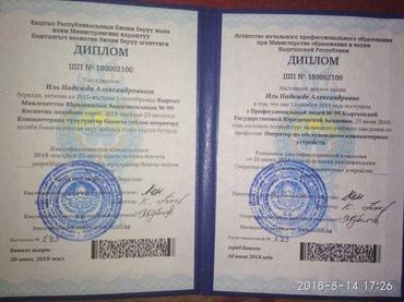 Девушка 19 лет ищет работу на в Бишкек