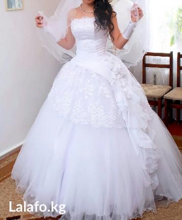Свадебное платье 16 000, ручная работа. в Кант