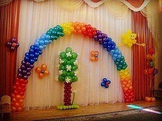 цветы и фигуры из шаров в Кыргызстан: Радуга из шаров!
