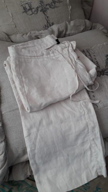 Pantalone od lana drap ima i crne br 42 beneton kao nove - Crvenka