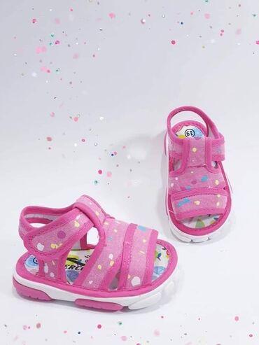 Lagane tekstilne sandalice sa otvorenom peticom i otvorenim prsticima