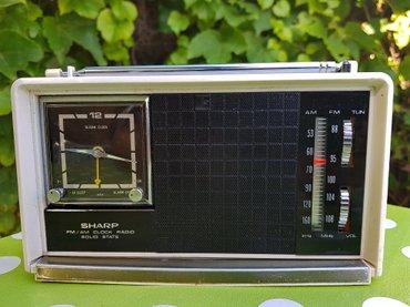 Tranzistor - Srbija: Stari japanski radio sat sa alarmom SHARP FXC-12, star oko 50 godina