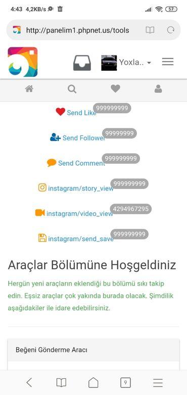 Instagram panel saytı satılır saytı özümüz açırıq.Paneldə