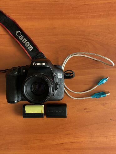 Canon 7 d + объектив 50mm в комплекте идёт оригинальный зарядник и две