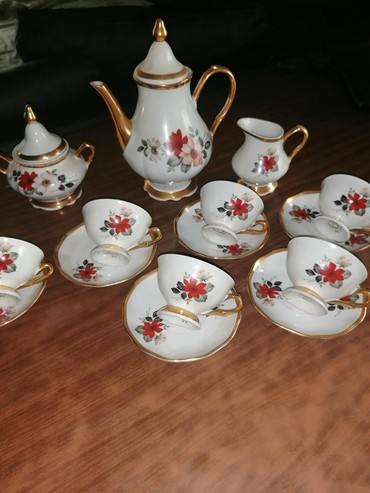 Ostalo za kuću | Smederevo: Servis za kafu i čaj od starog porcelana Zaječar, cvetnog motiva, kao